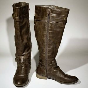 Diba brown NON leather boots - Size 9.5